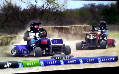 WATCH: STA-BIL Lawn Mower Racing Set To Mow on CMT's 'Dude Perfect' Show
