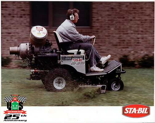 Racer on Mower